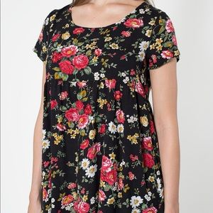 American Apparel baby doll dress - black floral